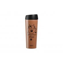 Термочашка Ardesto Coffee time Cat 450 мл, мокко, нерж.сталь (AR2645DMM)