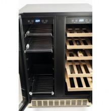 Вбудовувана винна шафа Kaiser K64800AD - 82см/2 зони-для вина та пива/20+46/чорний (K64800AD)