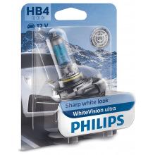 Лампа галогена Philips HB4 WhiteVision Ultra +60%, 4200K, 1шт/блістер (9006WVUB1)