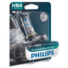Лампа галогенная Philips HB4 X-treme VISION PRO +150%, 3700K, 1шт/блістер (9006XVPB1)