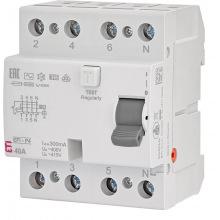 Реле дифференциальное ETI (УЗО) 4р EFI-P4 40/0,3 тип AC (10kA) (2061632)