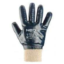 Перчатки NEO рабочие, хлопок с полным нитриловым покрытием, р. 8 (97-630-8)