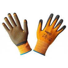 Перчатки NEO рабочие, нейлон с нитриловыми точками, р. 8 (97-621-8)