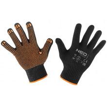 Перчатки NEO рабочие, хлопок и полиэстер, пунктир, р. 10 (97-620-10)