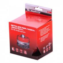 """Щітка """"чашка"""" для КШМ Heavy Duty 80 мм, М14, кручений металевий дріт,  MTX (MIRI746709)"""