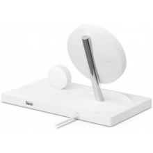 Бездротовий ЗП Belkin 2-in-1 Wireless Pad/Stand/Apple Watch, white (F8J234VFWHT-APL)