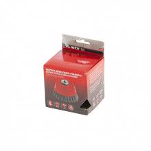 """Щітка дворядна """"чашка"""" для КШМ 75 мм, М14, кручений дріт 0.8 мм,  MTX (MIRI746869)"""