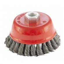 """Щітка дворядна """"чашка"""" для КШМ 100 мм, М14, кручений дріт 0.5 мм,  MTX (MIRI746829)"""