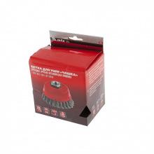 """Щітка дворядна """"тарілка"""" для КШМ 125 мм, М14, кручений дріт 0.35 мм,  MTX (MIRI746789)"""