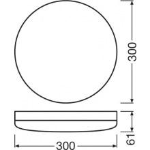 Світильник SF COMPACT IK10 300 24 W 4000K IP65 WT (4058075062221)