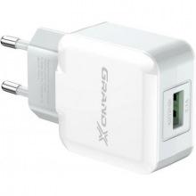 Мережевий зарядний пристрій Grand-X (1xUSB 2.1A) White (CH-03W) (CH-03W)