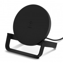 Бездротовий ЗП Belkin Stand Wireless Charging Qi, 10W, black (WIB001VFBK)