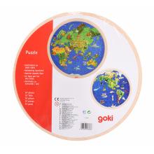 Пазл дерев'яний goki Планета Земля  (57666G)
