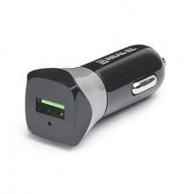 Автомобільний зарядний пристрій REAL-EL CA-30 QC3.0 (1USBx3A) Black/Grey (EL123160011)