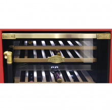 Вбудовувана винна шафа Kaiser K64750AD - 82см/2 зони/46 пляшок/5 полиць/чорний (K64750AD)
