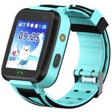 Детские телефон-часы с GPS трекером GOGPS К07 синие (K07BL)