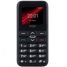 Мобiльний телефон Ergo F186 Solace Dual Sim Black (F186 Solace Black)