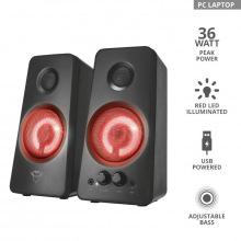 Акустическая система (Колонки) Trust 2.0 GXT 608 Tytan Illuminated Speaker Set BLACK (21202_Trust)