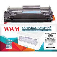 Картридж WWM  аналог HP 12A Q2612A и Canon 703 Black (LC21N)