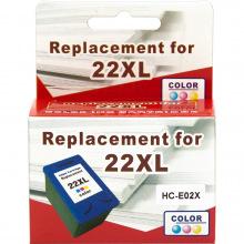 Аналог HP 22XL Color (Цветной) Картридж Совместимый (Цветной) (HC-E02X) MicroJet