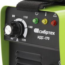 Апарат інверторний дугового зварювання ІДС-170, 170 А, ПВ 80%, D електрода 1,6-3,2 мм  СИБРТЕХ (MIRI94375)