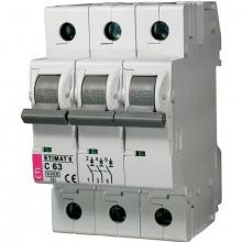 Автоматический  выключатель ETI,  ETIMAT 10  3p C 63А (6 kA) (2135722)