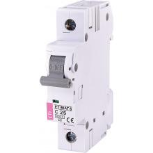 Автоматический  выключатель ETI,  ETIMAT 6  1p С 25А (6 kA) (2141518)
