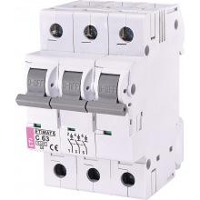 Автоматический  выключатель ETI,  ETIMAT 6  3p C 63А (6 kA) (2145522)