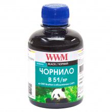 Чернила WWM B51 Black для Brother 200г (B51/BP) пигментные