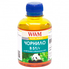 Чернила WWM B51 Yellow для Brother 200г (B51/Y) водорастворимые