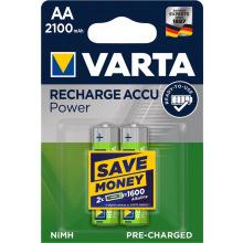 Аккумулятор VARTA RECHARGEABLE ACCU AA 2100mAh BLI 2 NI-MH (READY 2 USE) (56706101402)