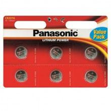 Батарейка Panasonic CR 2032 BLI 6 LITHIUM (CR-2032EL/6B)