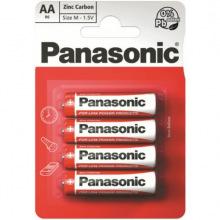 Батарейка Panasonic RED ZINK R6 BLI 4 ZINK-CARBON (R6REL/4BPR)