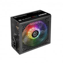 Блок питания Thermaltake Smart RGB 600W,12cm fan, a/PFC,24+8,4xPeripheral,1xFDD,5xSATA,2xPCIe (PS-SPR-0600NHSAWE-1)