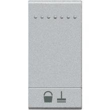 Кнопка Bticino LivingLight Уберите комнату, размер 1 модуль, цвет алюминий (NT4915MR)