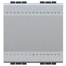 Переключатель Bticino LivingLight с автоматическими клемами, размер 2 модуля, цвет алюминий (NT4003M2A)