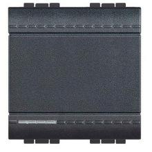 Переключатель Bticino LivingLight с автоматическими клемами, размер 2 модуля, цвет антрацит (L4003M2A)