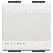 Переключатель Bticino LivingLight с автоматическими клемами, размер 2 модуля, цвет белый (N4003M2A)
