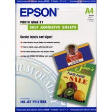 Бумага Epson Quality Self Adhesive Sheet Самоклеящаяся Матовая 167Г/м кв, А4, 10л (C13S041106)