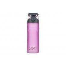 Бутылка Ardesto для води 600 мл, рожева, пластик (AR2205PR)