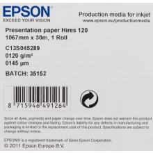 """Презентационная фотобумага Epson Present Paper HiRes 120 г/м кв, руллон 42"""" х 30м (C13S045289)"""