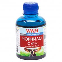 Чорнило WWM C41 Cyan для Canon 200г (C41/C) водорозчинне