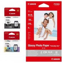 Canon PG 46 и CL 56 Набор Картриджей (9059B003) + фотобумага GP-501 50 листов MultiPack