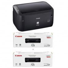 Принтер А4 Canon i-SENSYS LBP6030B (8468B042AA) + 2 картриджа Canon 725 (8468B042AA)