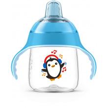 Чашка-непроливайка Avent с носиком, голубая, 260мл, 12 мес+, 1 шт, (SCF747/02)