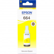 Чернила Epson 664 Yellow (Желтый) (C13T66444A) 70мл