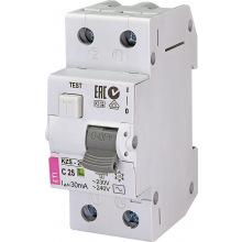 Дифферинциальный автоматический  выключатель ETI,  KZS-2M C 25/0,03 тип AC (10kA) (2173126)