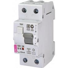 Дифференциальный автоматический выключатель ETI KZS-2M B 16/0,03 тип AC (10kA) (2173104)