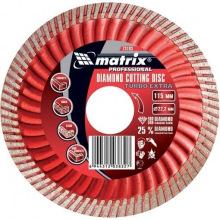 Диск алмазний відрізний Turbo  Extra, 115 х 22,2 мм, сухе різання, MTX PROFESSIONAL (MIRI731939)
