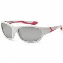 Детские солнцезащитные очки Koolsun бело-розовые серии Sport (Розмір: 3+) (KS-SPWHCA003)